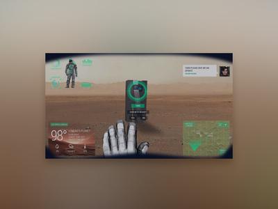 Astronaut's Helmet with Augmented Reality - UI Design