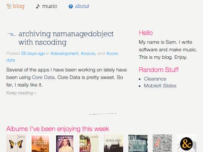 New blog homepage blog homepage lastfm