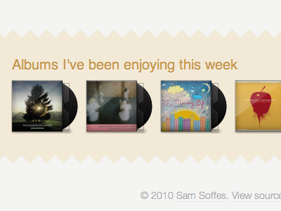 Album Footer teeth yellow albums homepage overlay