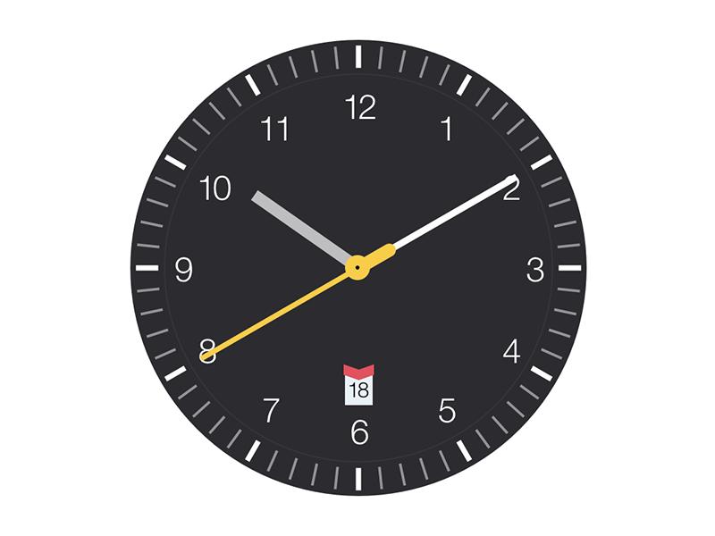 Clock Screensaver clock braun watch mac screensaver