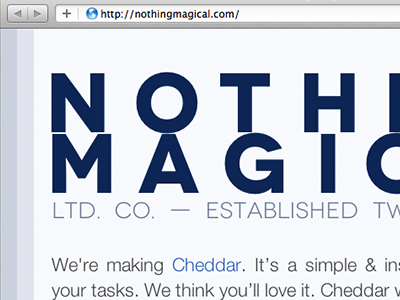 Placeholder Site coming-soon placeholder nothing-magical