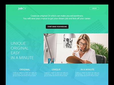 Own Project resume job cv web design web gradient background light