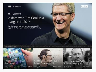 BBC website concept bbc apple web design news web simple design