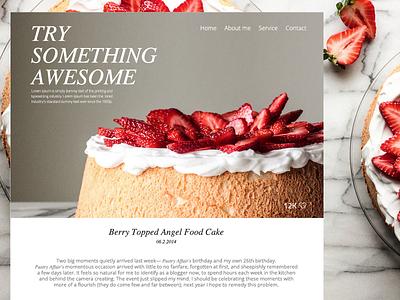 Food recipe theme for Wordpress. food theme wordpress strawberry blog webdesign graphic web