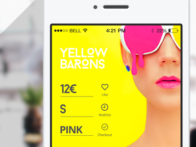Mobile Shop app mobile yellow shop ecommerce price checkout iphone