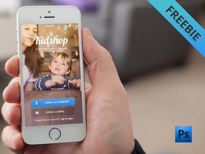App Login Freebie - free .psd download