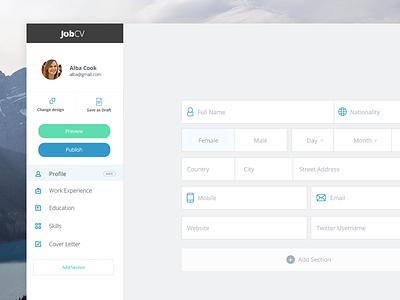 Redesigned Application Form design web job application jobcv form cv resume
