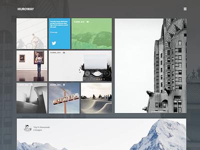 Huroway Blog Style blog web design ui webdesign blog design