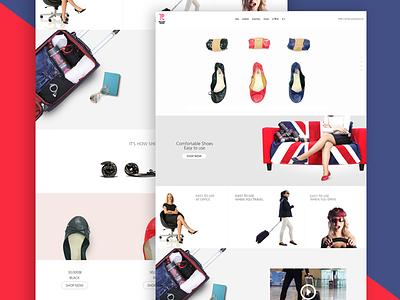 Shoes ecommerce website [draft] ecommerce website background clean flat photos shop ui design uxdesign