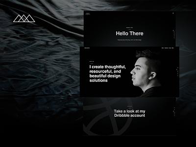 Personal Website personal site webdesign portfolio dark black simple minimal