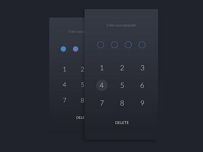 App Passcode passcode app ui gradient dark wallet ios app android app user experience