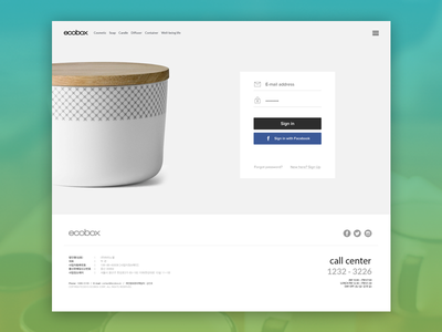 E-commerce login  minimal simple black white ecommerce product page login signup