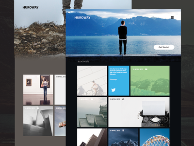 Blog Concept header iphone pic images blog interface ux ui grid clean simple minimal