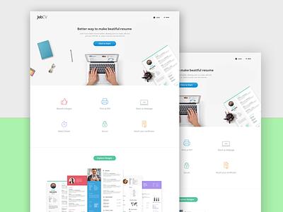 Jobcv white soon simple background header service online resume job webdesign