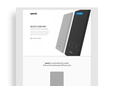 Spend Web clean simple white header landing webdesign design web ui