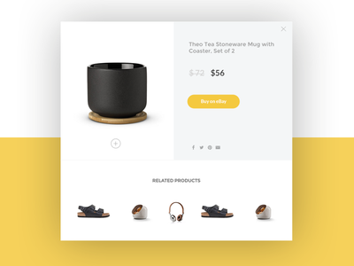 Product Page Popup checkout store online shopping simple clean design page product popup