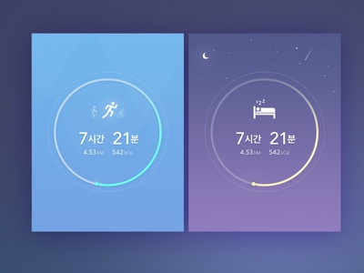 Run+Sleep Widget Dashboard run sleep running sleeping iphone ui widget dashboard