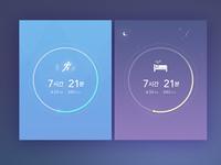 Run+Sleep Widget Dashboard