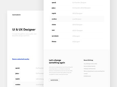 New Portfolio Website personal website minimal clean white webdesig user interface portfolio website