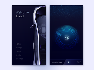 Car App Concept car design speedometer map ux concept exploration car app app tesla car