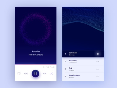 Music Player Visualizer list android app iphone player music playlist visualizer music player