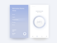 Smarthome Concept smart home ui thermometer smart home