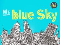 Mr. Blue Sky Font
