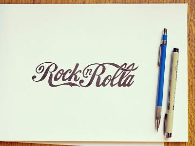 Rock N Rolla coke rock n rolla hand drawn lettering