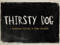 Thirsty Dog font