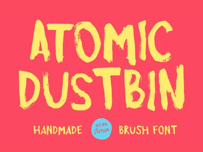 Atomic Dustbin Font atomic dustbin display free font brush font brush typeface font