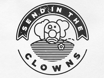 Send In The Clowns clown vector illustration
