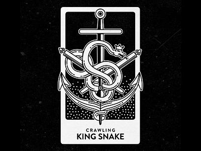 Crawling King Snake vector art king snake card snake illustrator illustration