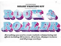 Rock And Roller Letterpress Kit