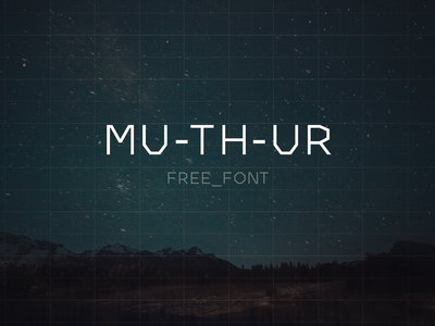 MU-TH-UR Free Font muthr typeface free font