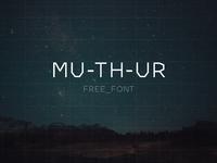 MU-TH-UR Free Font