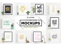 10 Picture Frame Mockups