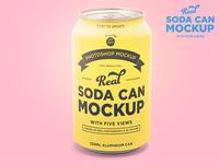 Tin soda can mockup