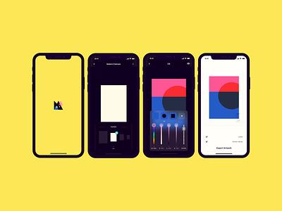 Manic blend art app app concept uidesign design pattern manicapp doubco