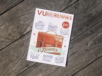 // Handlettering for cover of Vu[e] sur Rennes magazine //