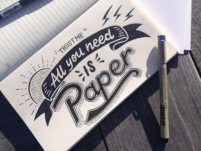 // Handelettering Trust Me All you need is paper //