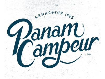 // typographye Arnacoeur Panam Campeur //