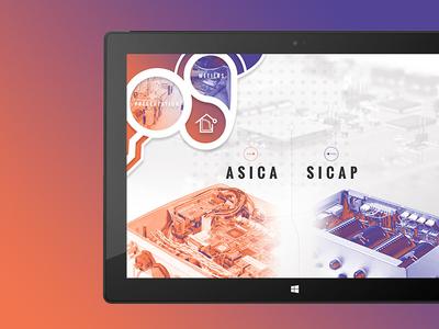 UX/UI Design Application Asica Sicap