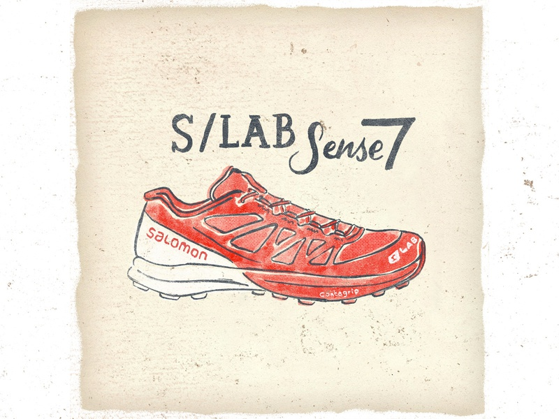 OTF  001 salomon slab sense 7 fashion vintage handmade handlettering typography illustration trail running