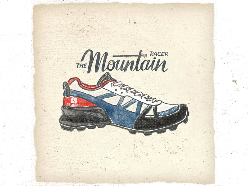 OTF  004 salomon district vision mountain racer fashion vintage handlettering illustration handmade typography trail running