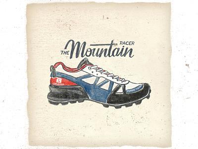 OTF  004 salomon district vision mountain racer fashion vintage handlettering illustration handmade typography trail running