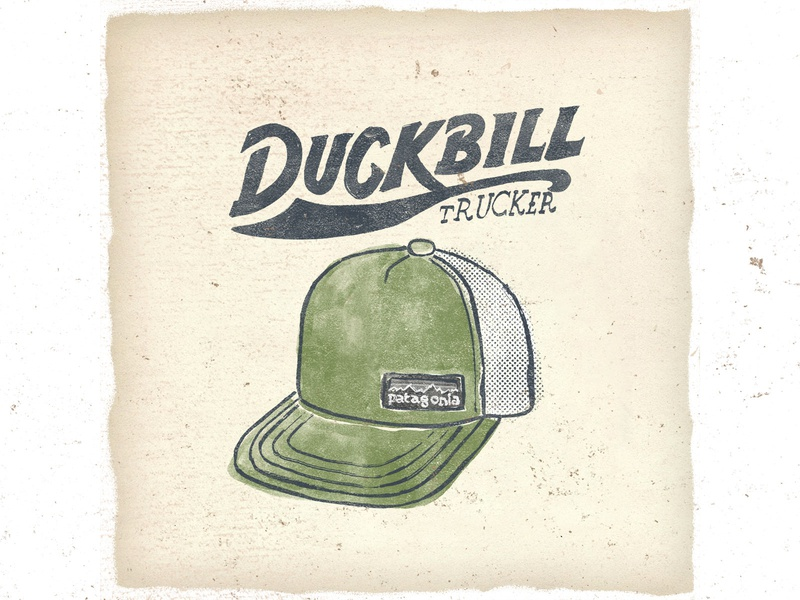 OTF  011 patagonia duckbill trucker handmade fashion typography patagonia trailrunning illustration