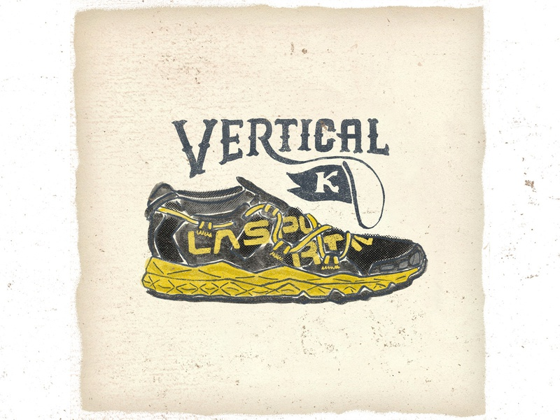OTF  013 la sportiva vertical k fashion typography handmade sneaker illustration trailrunning