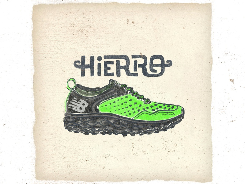 OTF  014 new balance hierro trail running typography handmade illustration sneaker fashion trailrunning