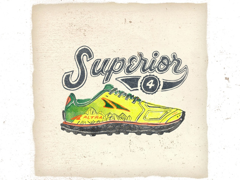 OTF  022 altra superior 4 handlettering letters artwork typography handmade shoes sneakers illustration trail ultra trail
