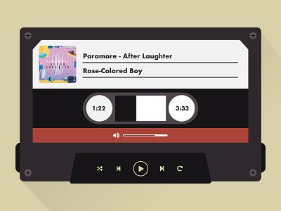 Daily UI 009 - Music Player illustration ui mixtape tape cassette dailyui paramore music music player